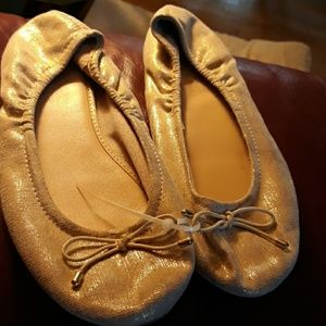 Girls gold flats